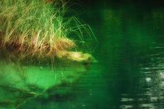Landscape of a beautiful lake Stock Photos