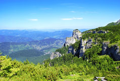 Landscape. Beautiful panorama seen from ceahlau Royalty Free Stock Images