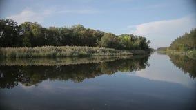 Landscape beautiful river, backwater stock video footage