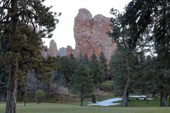 Landscape and beautiful rock formation in Colorado Springs, Colorado stock images