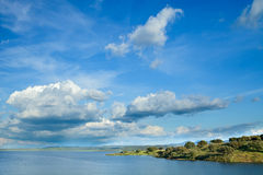Landscape with beautiful sky Stock Photography