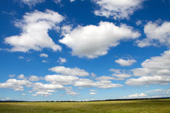Landscape with a beautiful sky Stock Photo