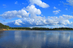 The landscape is beautiful sky over the lake Stock Image