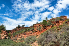 Landscape and Beautiful Sky in Zion Stock Image