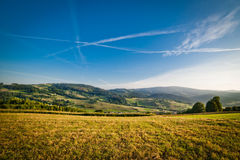 Landscape of beautiful sunrise in the mountains Royalty Free Stock Photos