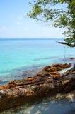 Landscape of beautiful tropical beach. At Kapas Island, Malaysia Royalty Free Stock Photos