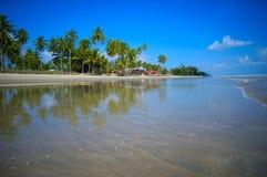 Landscape of beautiful tropical beach. At Kelantan, Malaysia Royalty Free Stock Image
