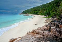 Landscape of beautiful tropical beach. At Redang island, Malaysia Stock Images