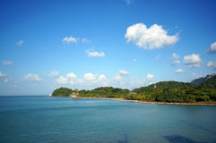 Landscape of beautiful tropical islands. At Thailand Royalty Free Stock Photos