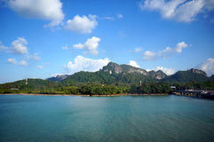 Landscape of beautiful tropical islands. At Thailand Stock Photos