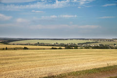 Landscape. Beautiful view of a peaceful Ukrainian country side Stock Images