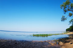 Landscape with a beautiful view to the Finnish bay Stock Photo
