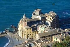 A landscape of a beautiful village, Camogli, Liguria, Italy Stock Image