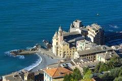 A landscape of a beautiful village, Camogli, Liguria, Italy Royalty Free Stock Image