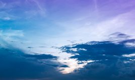Landscape of beauty sky with cloudy, serenity nature background. stock image