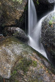 Landscape of Becky Falls waterfall in Dartmoor National Park Eng Stock Photography