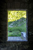 Landscape behind the window Royalty Free Stock Photo