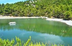 Landscape of Beletsi lake near to Parnes mountain Greece Royalty Free Stock Photo