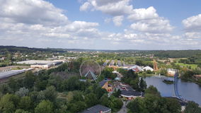 Landscape belgium. Walibi belgium from top of the dalton ride Stock Photos