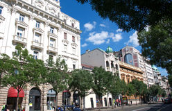 Landscape of Belgrade downtown, Serbia Royalty Free Stock Photography