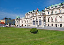 Landscape of the Belvedere Palace in Vienna, Austria Stock Photos