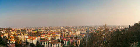 Landscape of Bergamo - lower town Royalty Free Stock Image