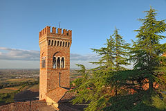 Landscape of Bertinoro, Emilia Romagna, Italy Stock Photo