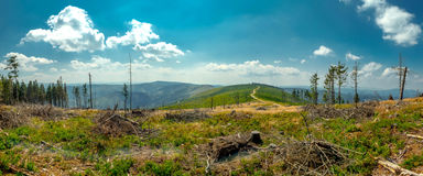 Landscape in the Beskid mountains. Stock Images