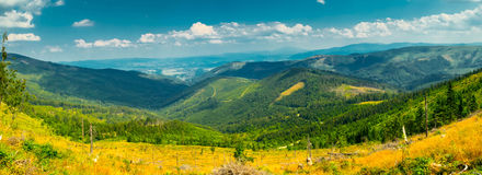 Landscape in the Beskid mountains. Stock Photo