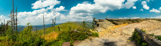 Landscape in the Beskid mountains. Royalty Free Stock Images
