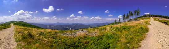 Landscape in the Beskid mountains. Stock Photos