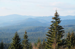 Landscape of Beskydy mountains Stock Image