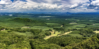 Landscape from Bezdez Castle. View of the summer landscape from Bezdez Castle/Czech Republic royalty free stock photography