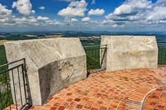Landscape from Bezdez Castle. View of the summer landscape from Bezdez Castle/Czech Republic stock photo