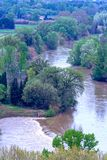 Landscape by Beziers, France stock photo
