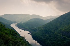 Landscape of Bhumibol dam area Stock Photography