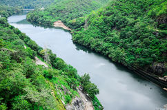 Landscape of Bhumibol dam area Stock Image
