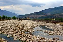 Landscape Of Bhutan Stock Photography