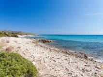 Landscape of Bidda Rosa beach Sardinia Italy Stock Photos