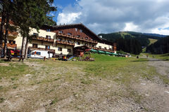 Landscape on the Biela Put in Jasna resort. Royalty Free Stock Images