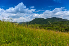 Landscape in Bieszczady Mountains. Stock Photo