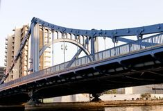 Landscape of big bridge and cityscape at sumida river viewpoint. Japan Royalty Free Stock Photography