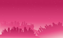 Landscape big city silhouettes Stock Photography
