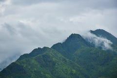 Landscape big green mountain Stock Photo