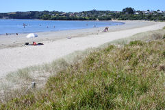 Landscape of Big Manly Beach Auckland New Zealand Stock Photo