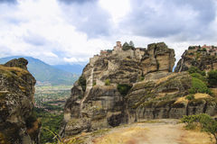 Landscape of big stones mount Athos in Greece, high altitude Stock Photography