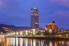 Landscape of Bilbao, the river Nervion. royalty free stock image