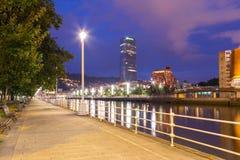 Landscape of Bilbao, the river Nervion. stock image
