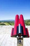 Landscape and binoculars Stock Photo