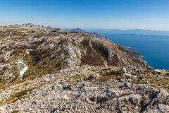Landscape In Biokovo Mountain And Sea-Croatia Royalty Free Stock Images